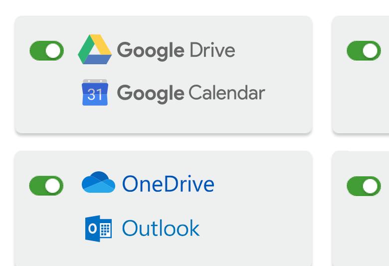 Cloud calendar integration