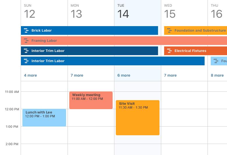 Flexible calendar views